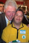 Teddy and President Clinton, October, 2009