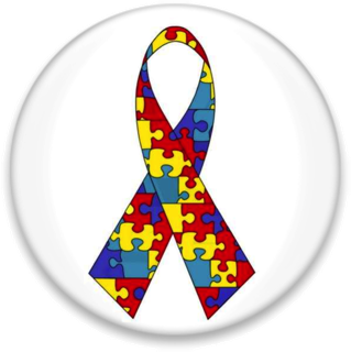 Puzzle ribbon representing autism awareness